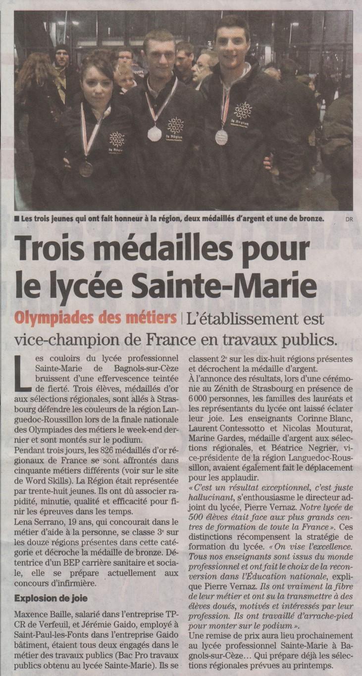 03-02-2015-Trois-médailles-pour-le-lycée-Sainte-Marie