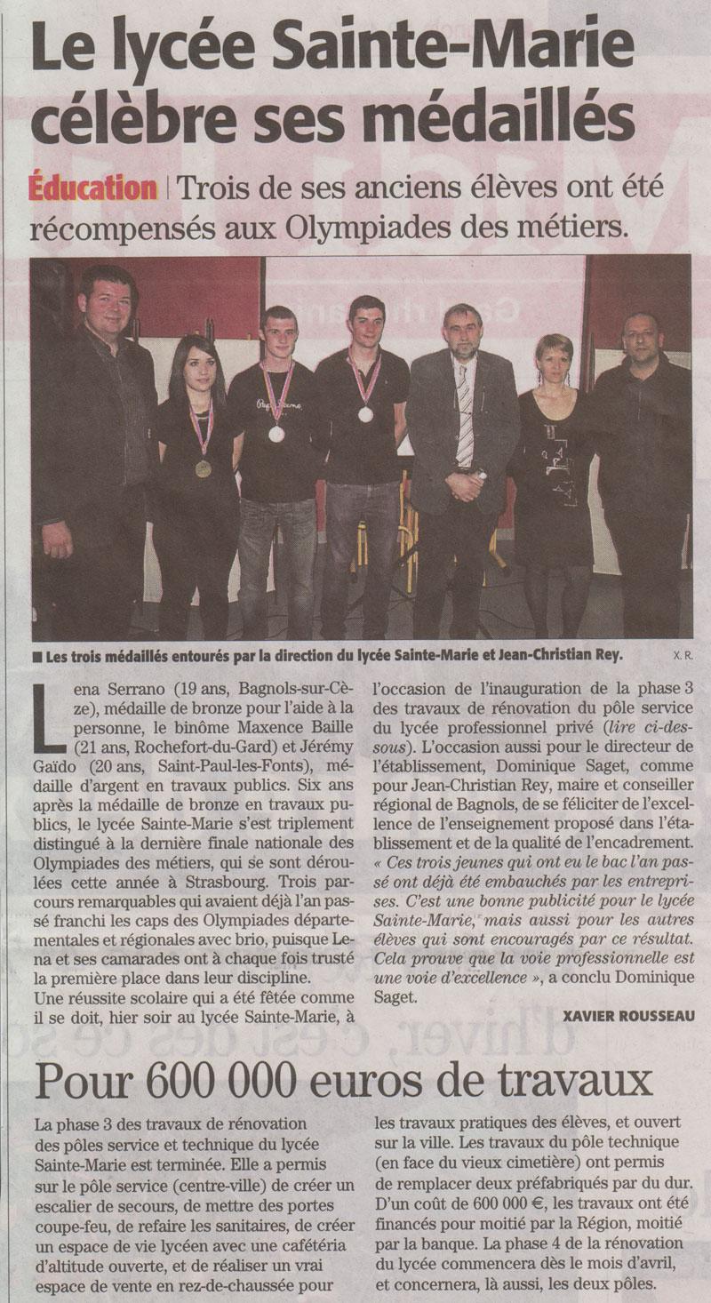 06-03-2015-Le-lycée-Sainte-Marie-célèbre-ses-médaillés